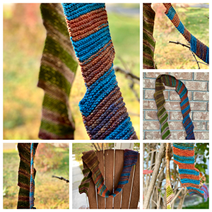 Colourful knti scarf collage